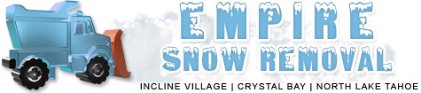 Commercial and Residential Snow Removal in Incline Village Emerald Bay and North Lake Tahoe